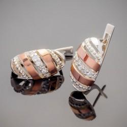 Майя - серьги из серебра с золотом