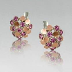 Серебряные серьги Лорен (розовый)