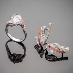 Женский комплект украшений Фламинго