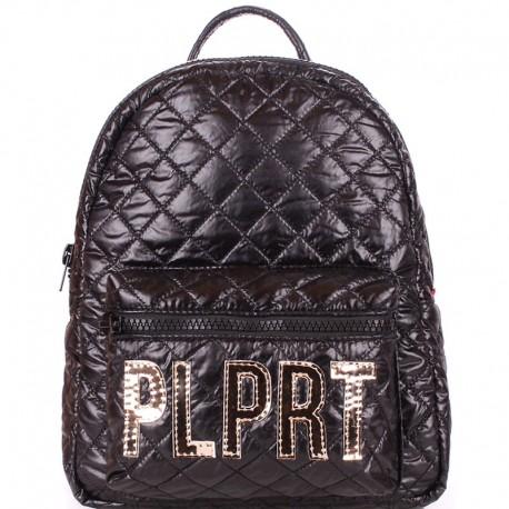Стеганый женский рюкзак POOLPARTY BACKPACK STITCH (черный)