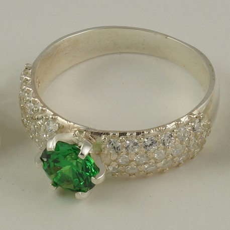 Серебряное кольцо Идиллия