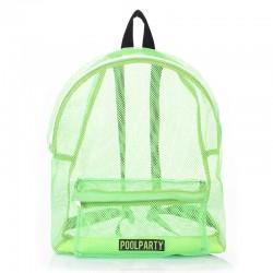 Прозрачный рюкзак (салатовый)