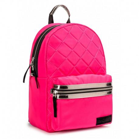 Женский стеганный рюкзак Fluffy (розовый)