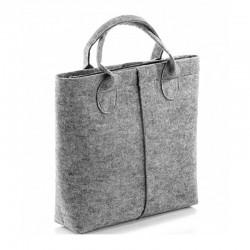 Женская сумка-тоут из фетра, на молнии (серая)