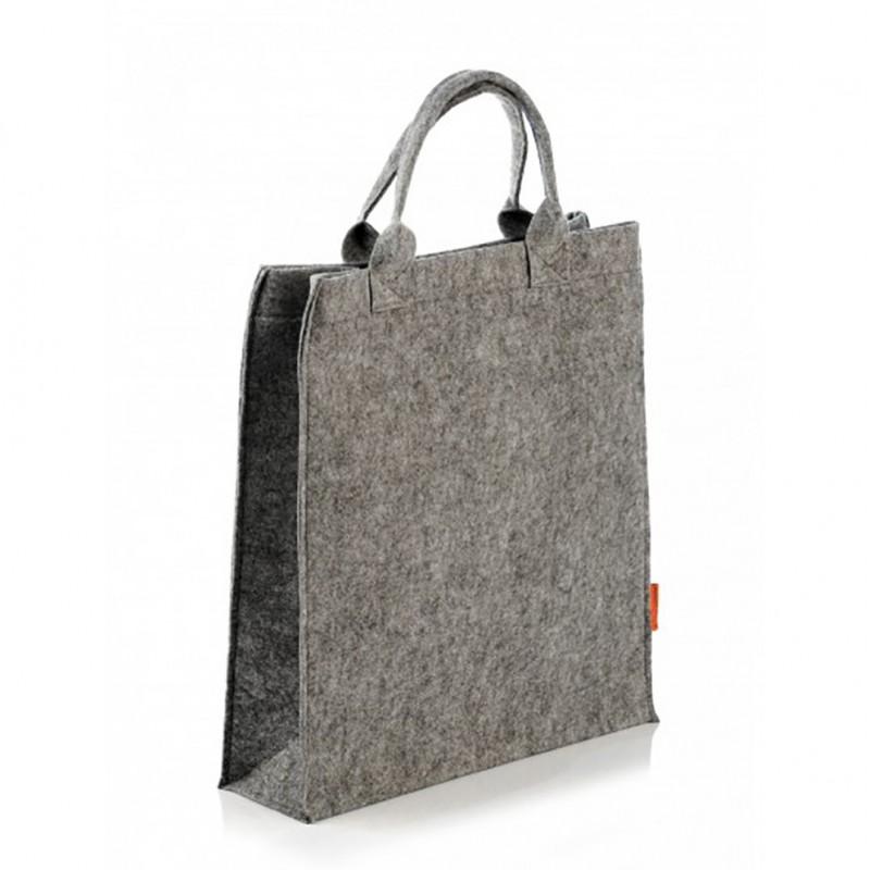4e2bc6407e17 Модная сумка из войлока в виде пакета, на молнии, арт.1653 / Lady.cn.ua
