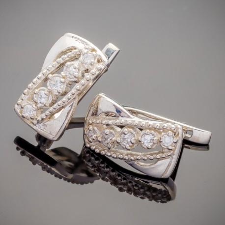 Серебряные серьги Николь