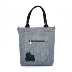 Удобная женская войлочная сумка ПАРОЧКА