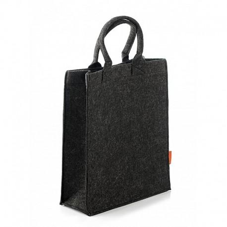 7377a2a92c07 Прямая фетровая сумка-пакет, застежка 2 кнопки, арт.1651 / Lady.cn.ua