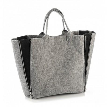 Войлочная сумка-трансформер (серая)