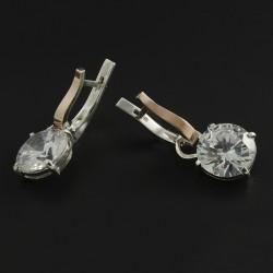 Серебряные серьги Амели (белый)