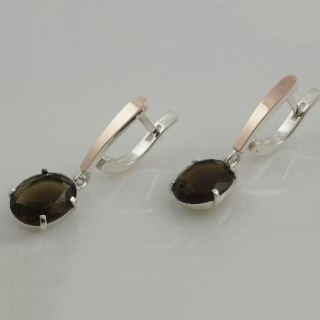Длинные серьги Бьянка (оливка)