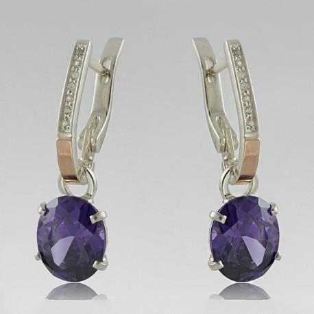 Длинные серьги Рапунцель (фиолетовый)