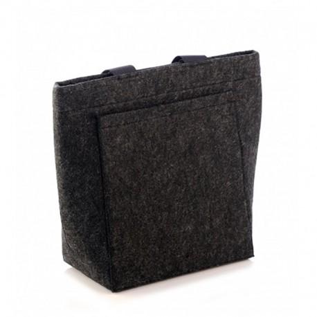 Войлочная сумка с большим карманом (черная)