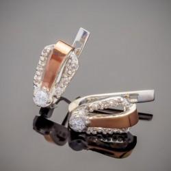 Серебряные серьги Канди с фианитом
