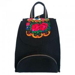 Женский рюкзак из войлока с платком, черный