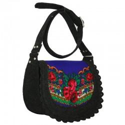 Женская сумка из войлока VALEX с декоративной вставкой из платков по центру