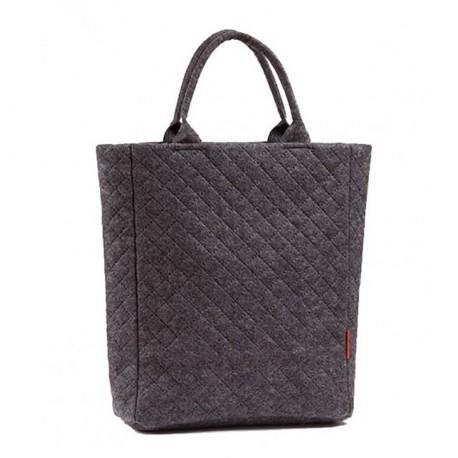 Прямая стеганая сумка на молнии из фетра
