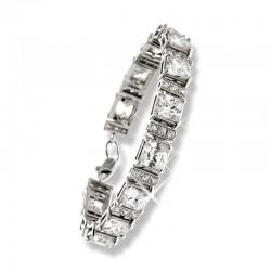 Серебряный браслет с большими камнями цирконами