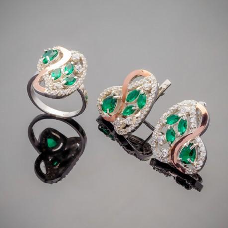 Набор серебряных украшений Сакура