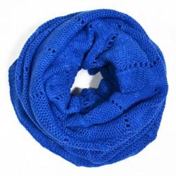 Вязаный шарф-хомут с ажурным узором
