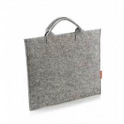 Женская сумка-папка из качественного фетра, на липучке