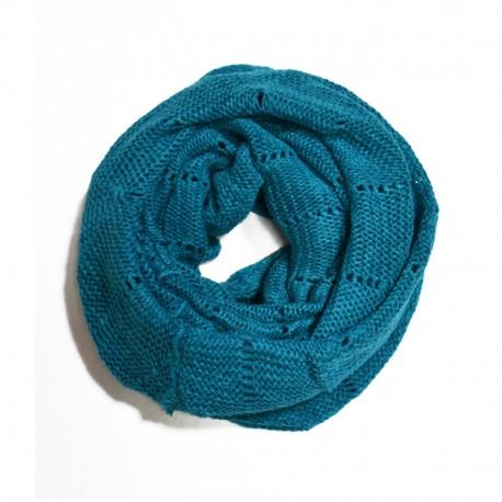 Вязаный шарф-хомут (бирюза)