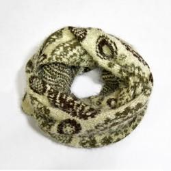 Теплый вязаный шарф снуд из шерсти и акрила