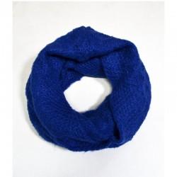 Кашемировый шарф снуд с вязанным узором