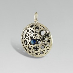 Кулон на цепочку Беата, серебро