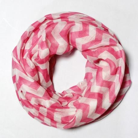 Шарф-хомут из вискозы (розовый)