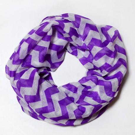 Шарф-хомут из вискозы (фиолетовый)