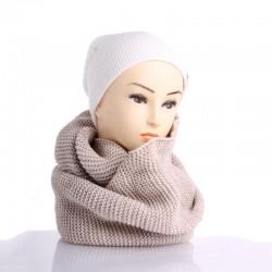 Вязаный женский снуд, однотонный, классика