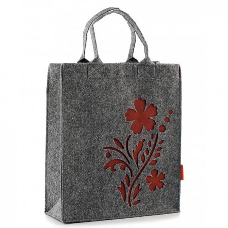 89ab45f9b95c Фетровая (войлочная) сумка-пакет с цветком, на молнии, арт.1663 ...