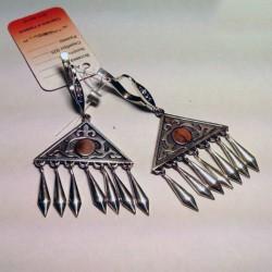 Длинные серебряные серьги ЗАРЕМА