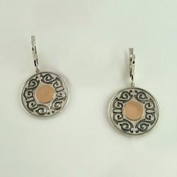 Круглые серебряные серьги монетки АЙГУЛЬ