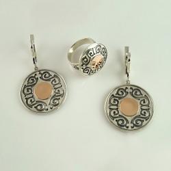 Комплект серебряных украшений АЙГУЛЬ