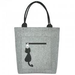 Удобная женская войлочная сумка VALEX на молнии