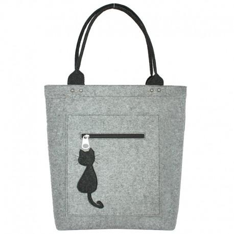 Удобная женская войлочная сумка
