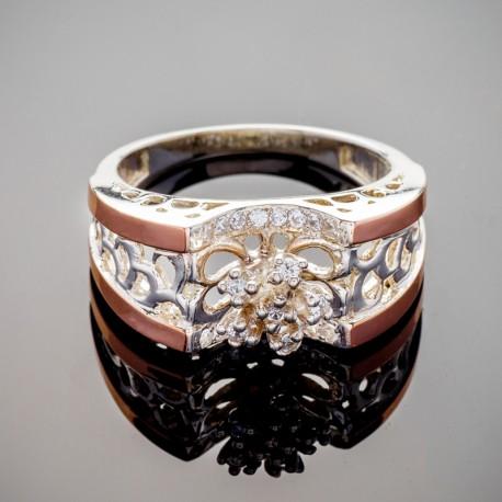 Широкое серебряное кольцо Чудо