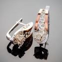 Чудо - женские серебряные серьги с фианитом