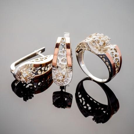Набор серебряных украшений Чудо