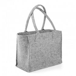 Практичная сумка из войлока с перфорацией