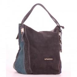 Черная замшвая сумка Velina Fabbiano