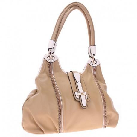 Бежевая сумка Velina Fabbiano