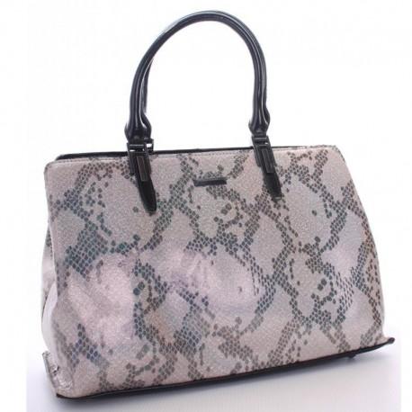 Кожаная сумка Fabbiano с принтом (серый)