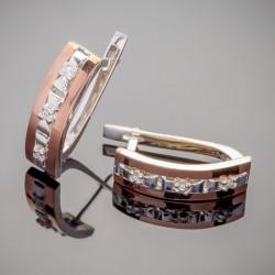 Серебряные серьги Элиза с золотом