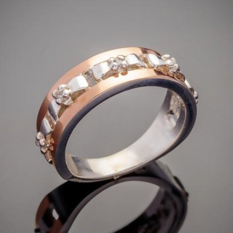 Серебряный перстень Моника с фианитом