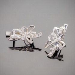 Детские серебряные серьги Бабочка Элина