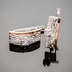 Сережки Франческа - серебро