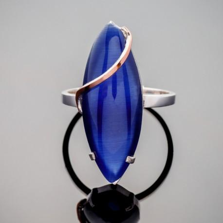 Серебряное кольцо Версаль с кабошоном